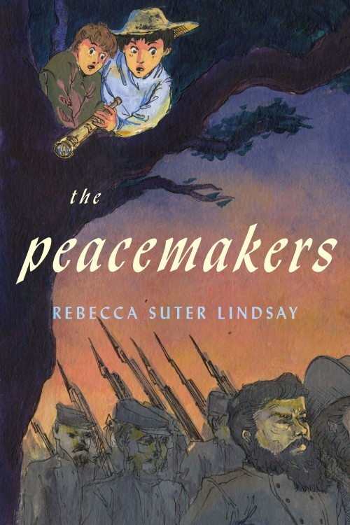 The Peacemakers, Rebecca Suter Lindsay; cover design Matt Tanner, cover art Annelisa Hermosilla. Subject to copyright, Shadelandhouse Modern Press